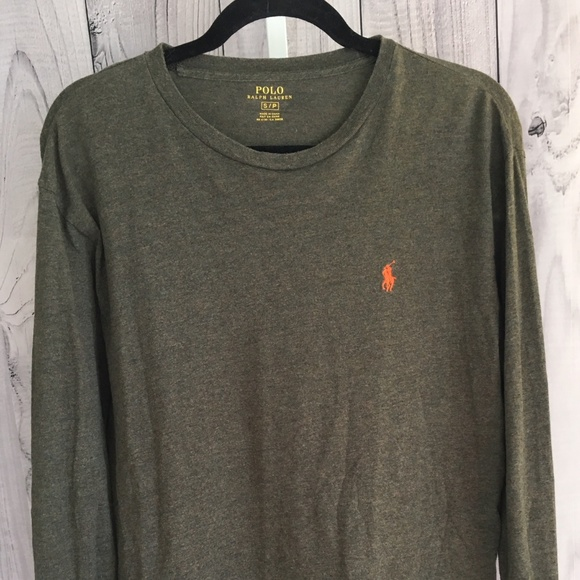 ac49074d62f7 POLO Ralph Lauren SMALL Long Sleeve Olive Green EC.  M 5b1fc5e1819e906f1bdb501e